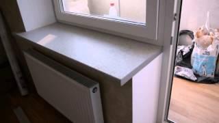 Замена белого подоконника пвх на подоконник из столешницы.(, 2015-09-16T19:02:59.000Z)