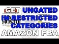 2016 How to Get Ungated Approved in Restricted Categories Amazon FBA Shoes Handbags Clothing