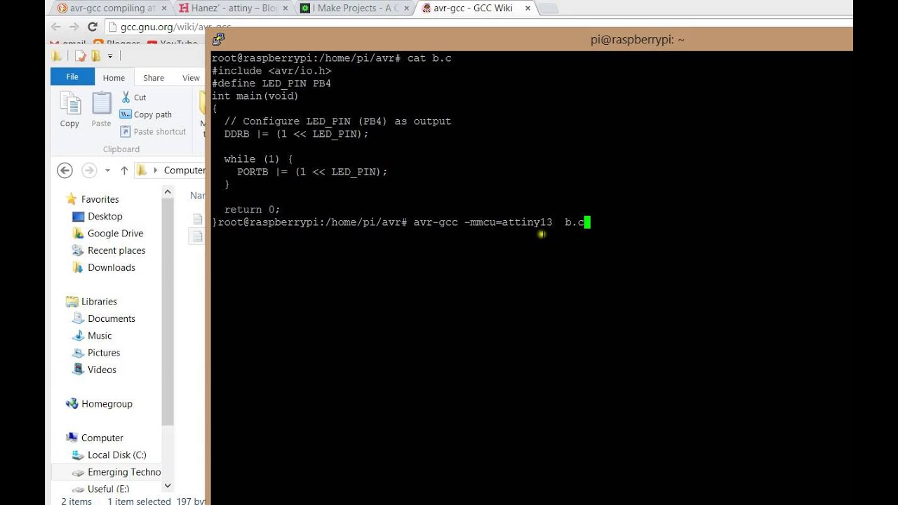 how to compile c program using avr gcc in linux raspberry pi rh youtube com Raspberry Pi Zero Raspberry Pi Logo