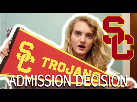 UNIVERSITY OF SOUTHERN CALIFORNIA (USC) ADMISSION DECISION + SCHOLARSHIP?? | Fall 2017