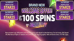 100 FREE Spins On Starburst Welcome Offer - Touch Mobile Casino