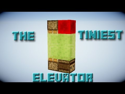 The Smallest Slime Block Elevator In Minecraft Youtube