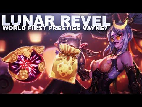 LUNAR REVEL LOOT! WORLD FIRST PRESTIGE VAYNE? | League of Legends thumbnail