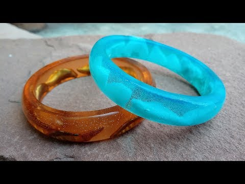 How to make Bracelet Bangle - DIY Resin Art