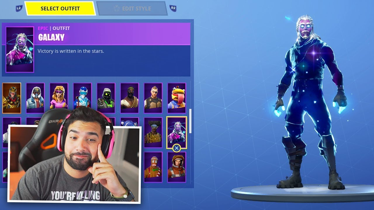 I Got The Galaxy Skin In Fortnite