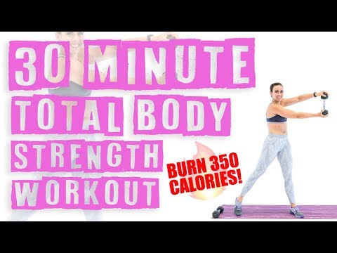 30 Minute At Home Total Body Strength Workout ��Burn 350 Calories! ��
