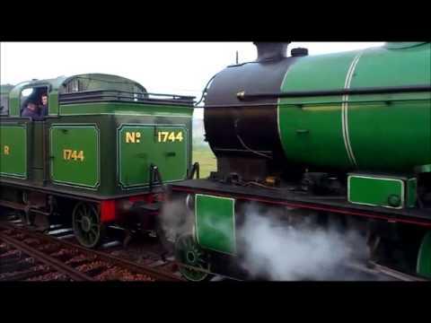 Rare Gresley Steam Trains GNR No 1744 'Finsbury Park' & LNER No 246 'Morayshire'
