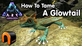 ARK HOW TO TAME A GLOWTAIL On Aberration