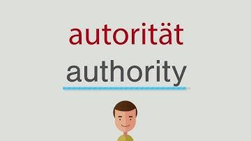 Autorität Englisch