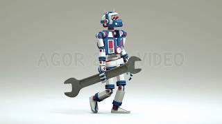 3d Robot animation   Видеоуроки kopirka-ekb.ru