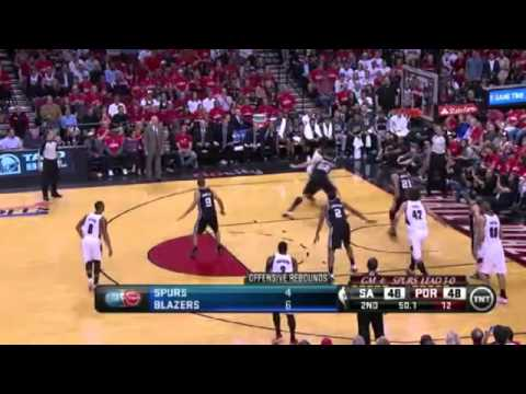 San Antonio Spurs 92 x 103 Portland Trail Blazers  Game 4 Playoffs NBA 2013/2014