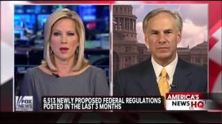 Greg Abbott on Fox News with Shannon Bream