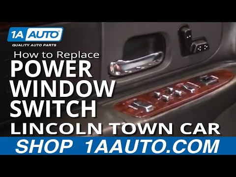 How To Replace Master Power Window Switch 98 02 Lincoln Town Car