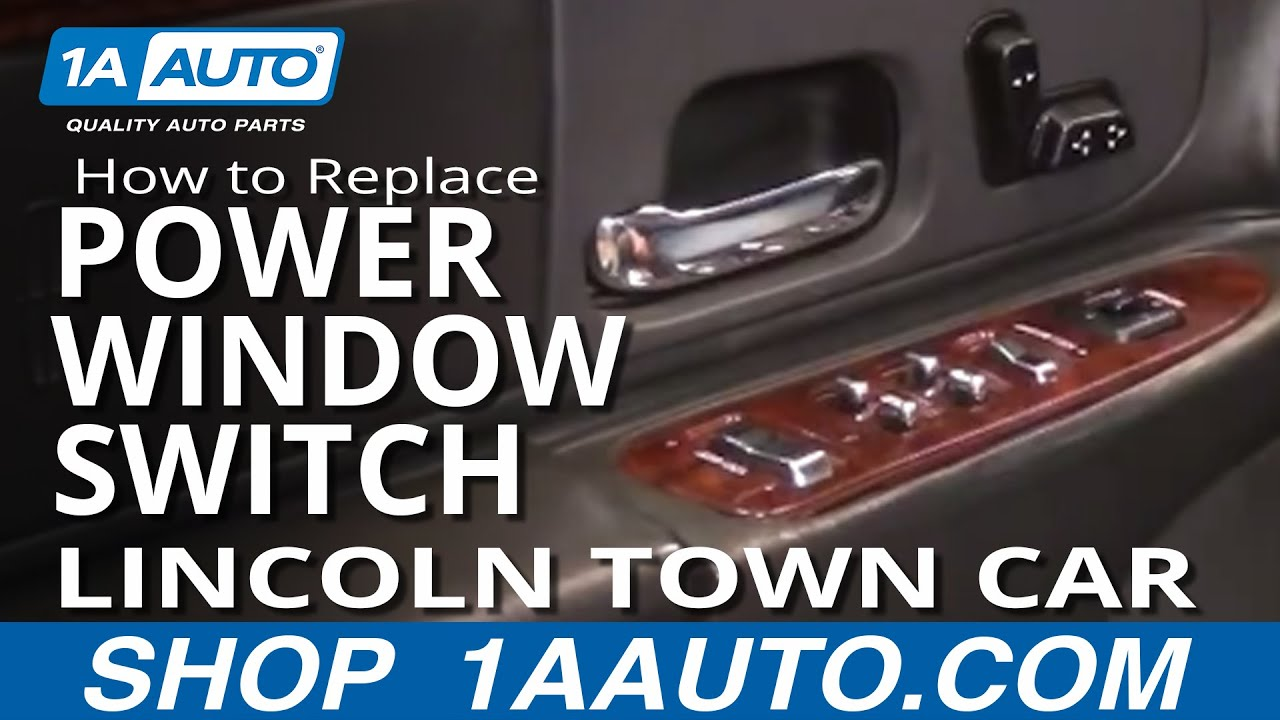 how to replace repair install broken driver power window switch lincoln town car 98 02 1aauto com youtube [ 1920 x 1080 Pixel ]