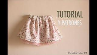 Conjunto blusa y falda parte 1  aprender a coser la falda (patrones gratis)  ... 95ad4abcfa4b