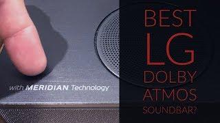 LG SK10Y - Dolby Atmos Soundbar with high-end audio Meridian Tech!