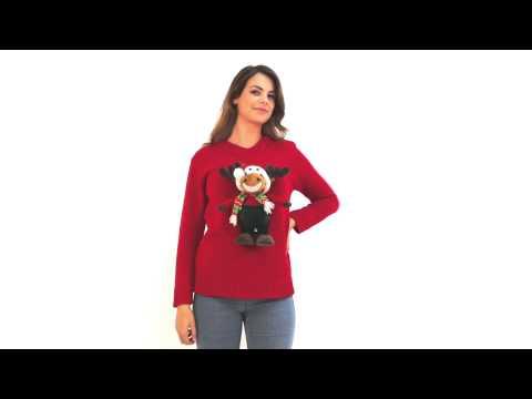 singing rudolph christmas jumper