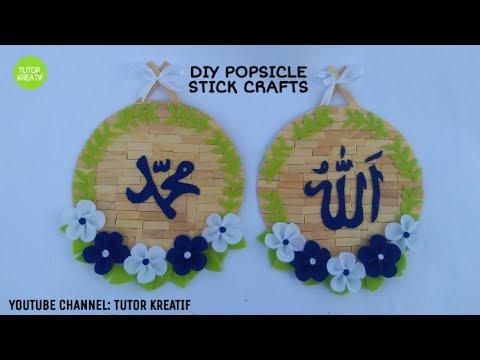 (13) Ide Kreatif Hiasan Dinding Bunga Flanel Stik Es Krim | DIY Popsicle Craft Ideas Felt Flower