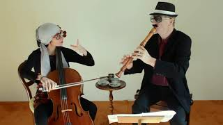 Telemann, duetto for recorder and cello