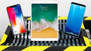 Shredding Apple Ipad Iphone X Samsung Galaxy S8 Hydraulic Press VS Iphone X Samsung Galaxy S9
