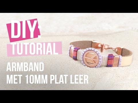 Sieraden maken: Mix & Match armband met 10mm plat leer ♡ DIY