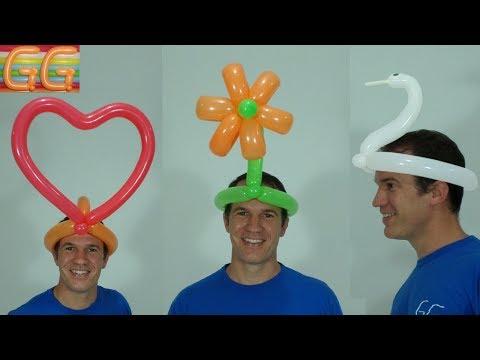 sombreros locos - como hacer figuras con globos - globoflexia facil - #1