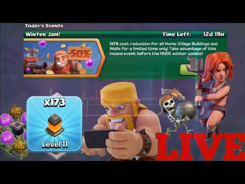 🔴 COC Live 🔴 Town Hall 12 Live Attack And Wall Update- Clash Of Clans Live