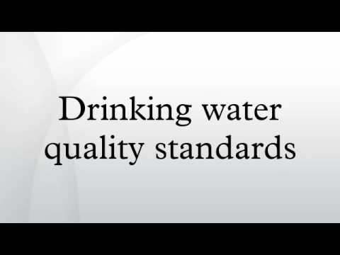 Drinking water quality standards