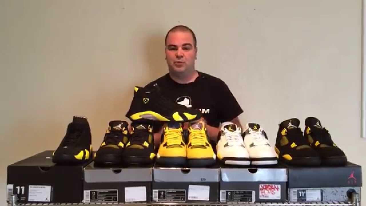 size 40 e9927 bdebc ShoeZeum Black and Yellow Thunder Ferrari Nike Air Jordan 14s