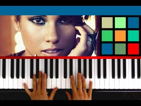 How To Play Girl On Fire Piano Tutorial Sheet Music Alicia Keys