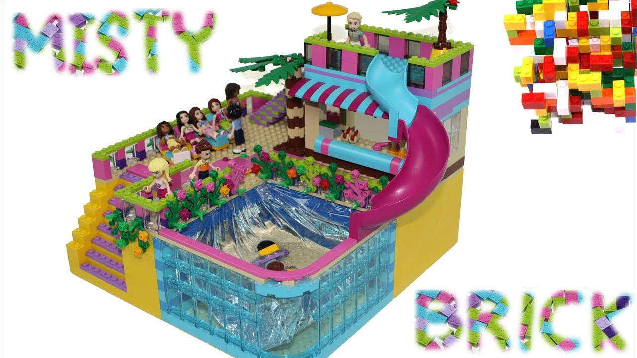 Lego Friends Swimming Pool 2 By Misty Brick Youtube