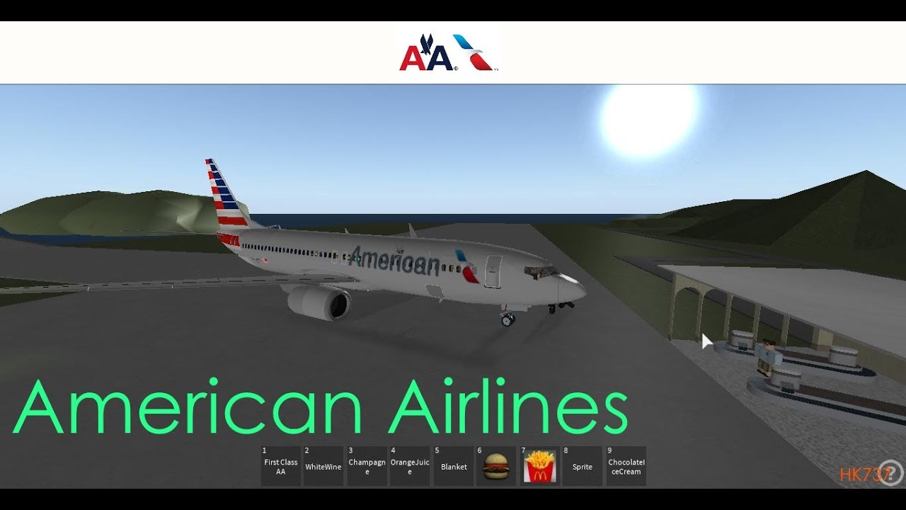 American Airlines Roblox Flight Roblox Youtube