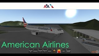 American Airlines Roblox Flight || Roblox