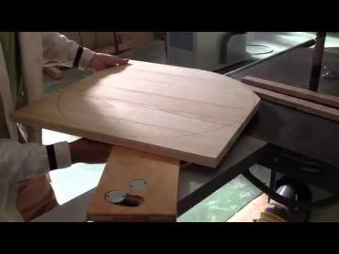 Fabricaci n de mesa redonda youtube for Como hacer una mesa extensible
