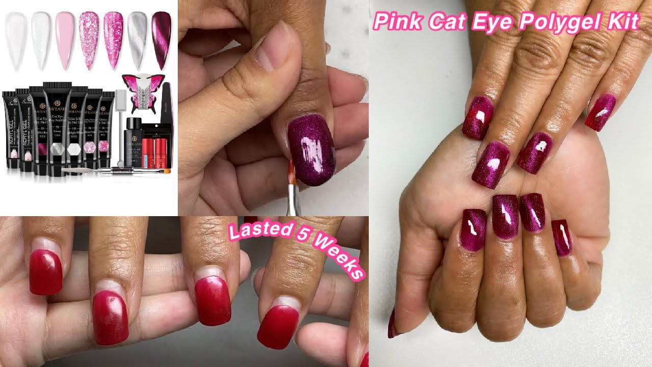 TRYING SAVILAND PINK CAT EYE POLYGEL KIT! MY SISTERS DO MY VOICEOVER😬 | Nail Tutorial For Beginners