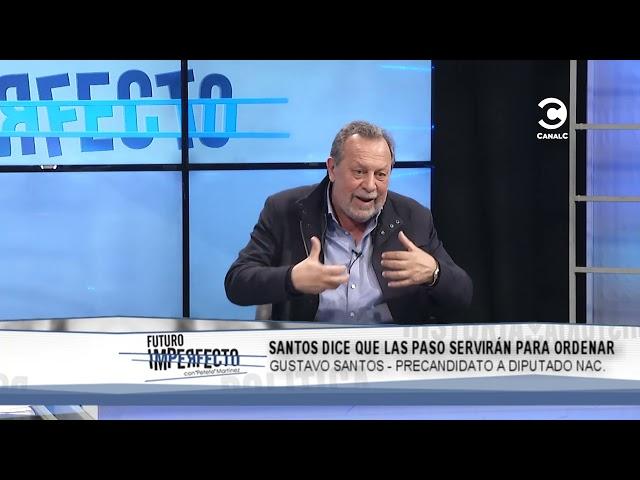 Gustavo Santos dice que las PASO servirán para ordenar