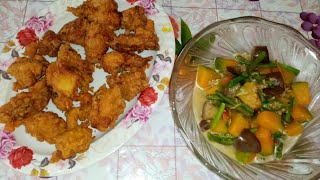 Lutong pinoy, Crispy  Fried Chicken and Gulay.