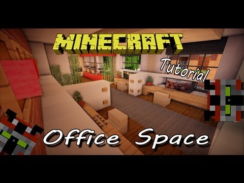 Minecraft tutorial office space youtube for Principal room design