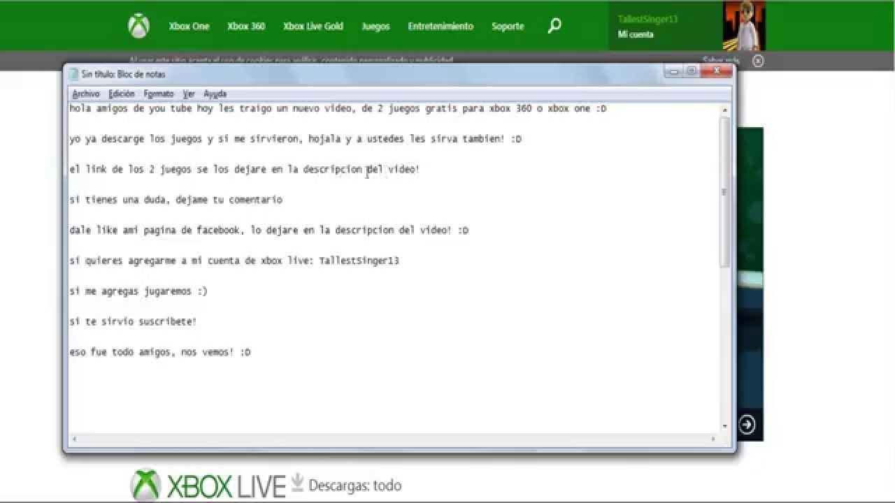Descarga 2 Juegos De Xbox 360 O Xbox One Gratis Youtube