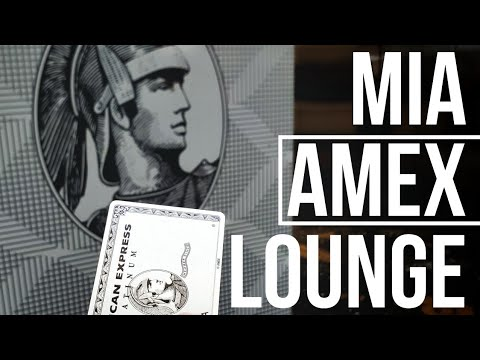 American Express Centurion Lounge Review And Tour! (MIA)