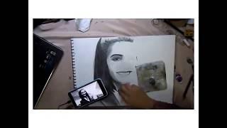 Painter Make A Sketch of Sonam Kapoor