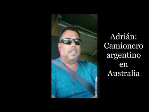 Camionero argentino en Australia