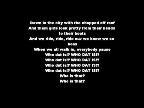 Who dat is - Tyler Ward - Lyrics - YouTube