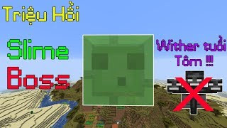 Những Điều Siêu Thú Vị Mà Ít Người Để Ý Khi Chơi Minecraft - Cách Triệu Hồi Slime Boss