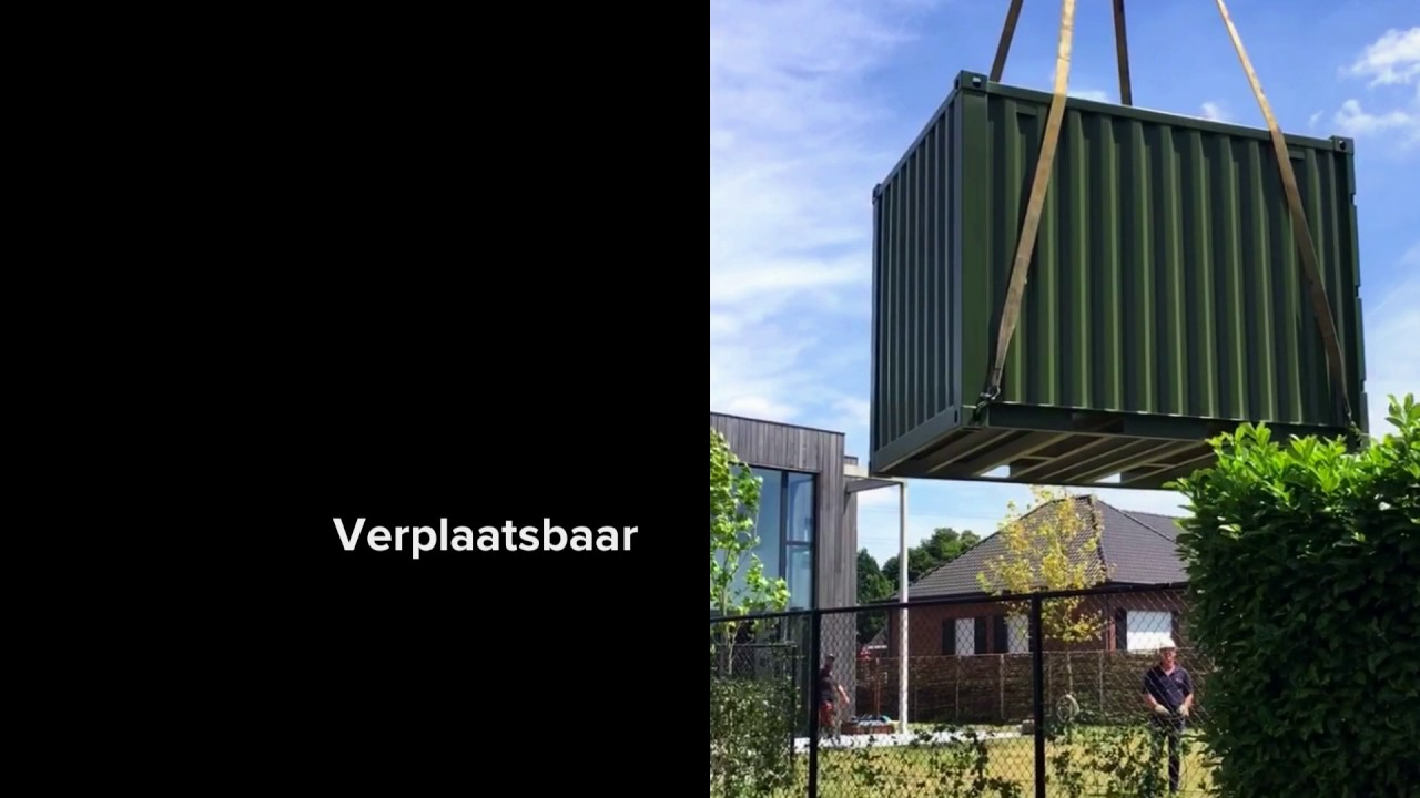 Welp Tuinhuis container - YouTube NK-28