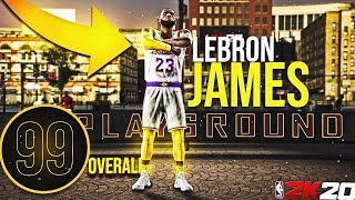 99 OVERALL LEBRON JAMES BUILD is UNSTOPPABLE at the PARK in NBA2K20