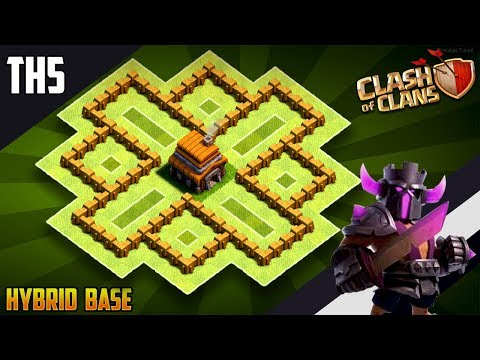 NEW BEST TH5 HYBRID/TROPHY[defense] Base 2019!!  Town Hall 5 Hybrid Base Design - Clash Of Clans