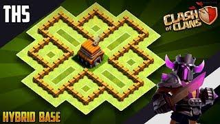 NEW BEST TH5 HYBRID/TROPHY[defense] Base 2019!!  Town Hall 5 Hybrid Base Design - Clash of Clans