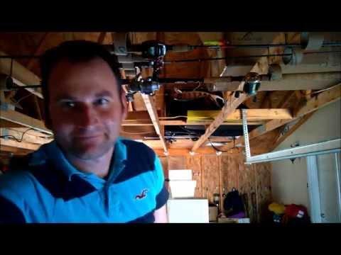 DIY Fishing Rod Organizer CHEAP and EASY
