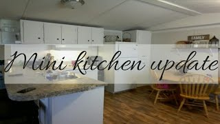 I painted my kitchen / single wide mobile home kitchen.